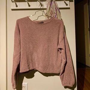 AE Mauve Balloon Sleeve Sweater